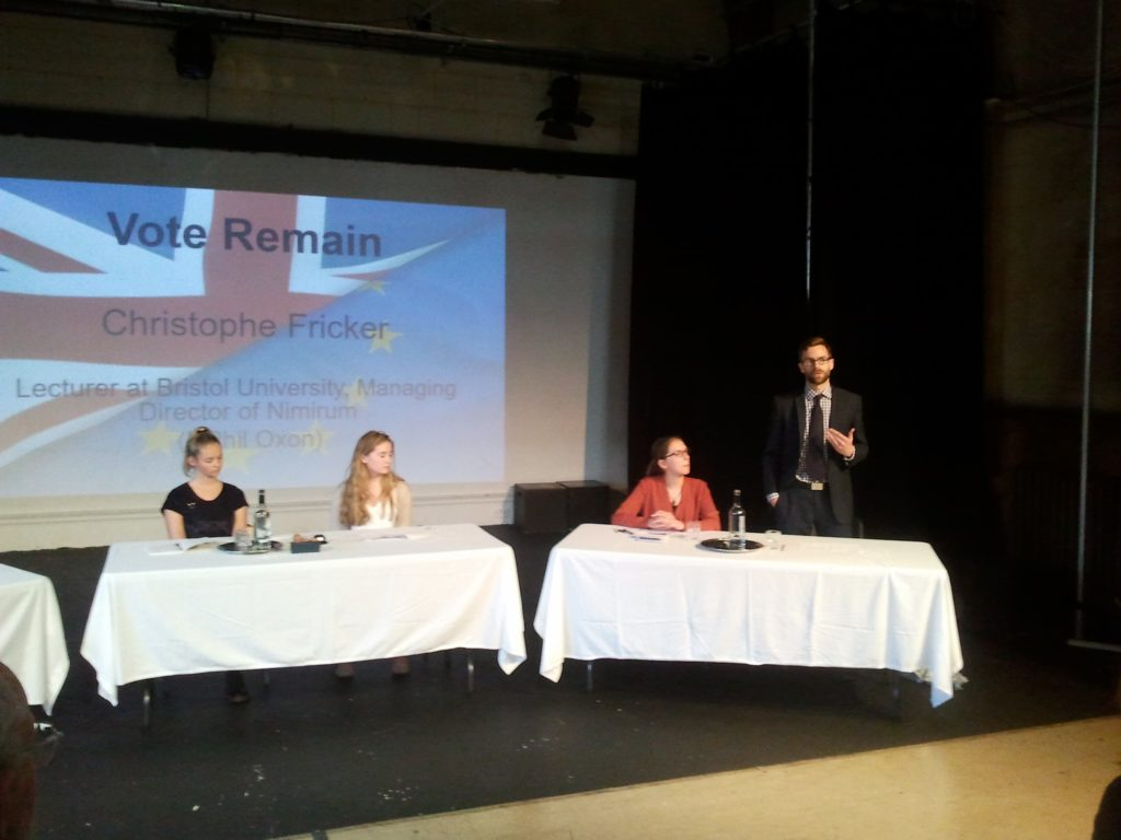 Case for Remain EU debate Royal High School Bath